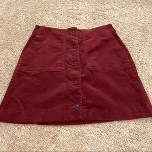 Uniqlo Button Corduroy Skirt